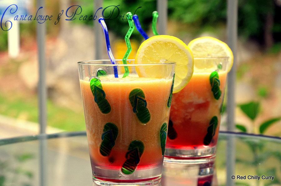 cantaloupe,peach drink