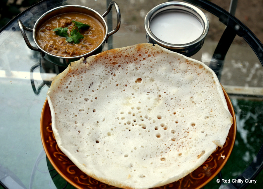 Aappam aappam hoppers for Appam and chicken stew kerala cuisine