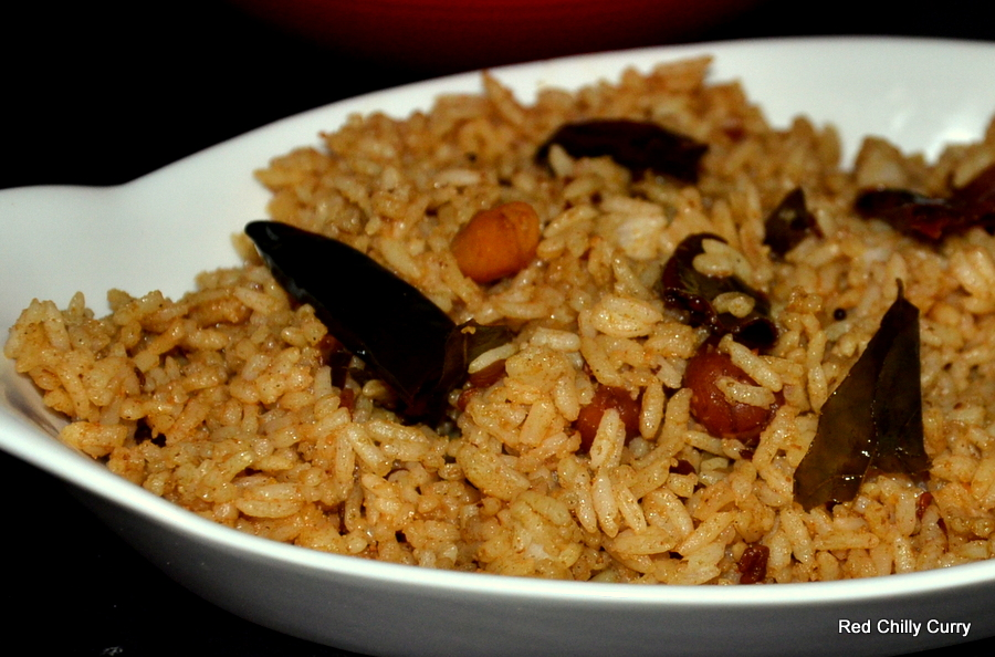 tamarind rice,puliyadharai,pulihara,south indian rice,rice variety ...