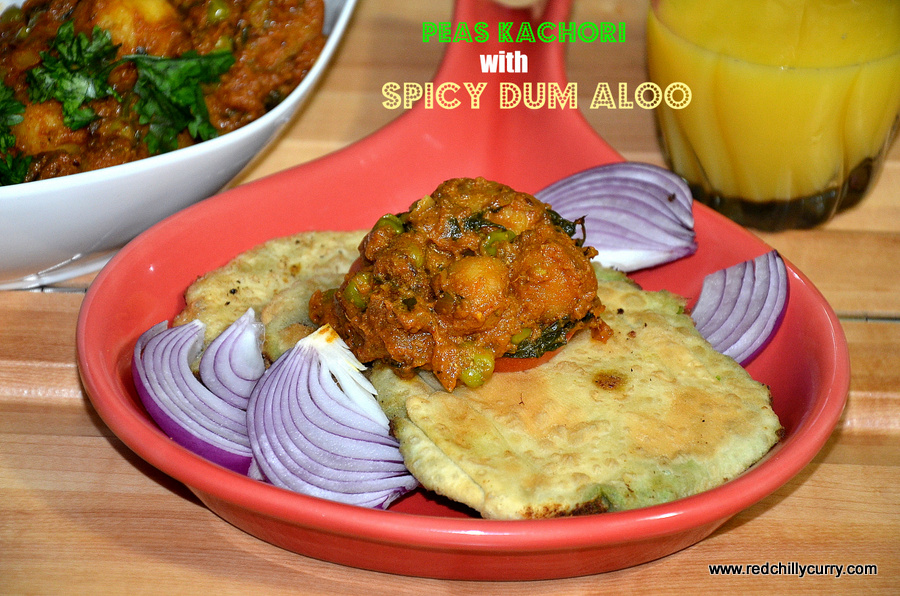 Peas kachori with spicy dum aloobengali style forumfinder Choice Image