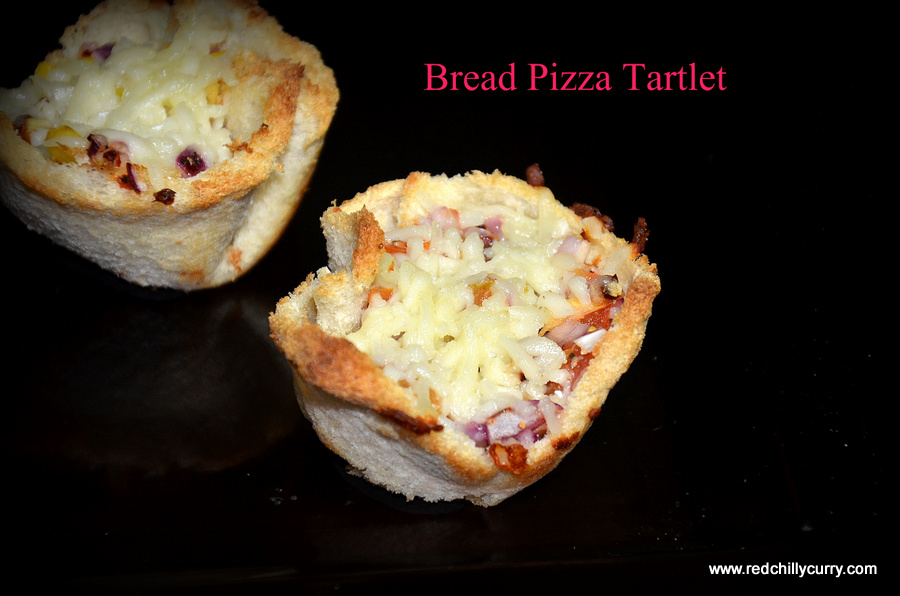 bread pizza tartlet