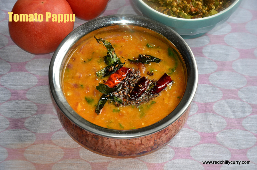 tomato pappu,andhra pappu,andhra tomato pappu,dal recipes,pappu recipes,dal dishes,dal recipes,andhra style recipes
