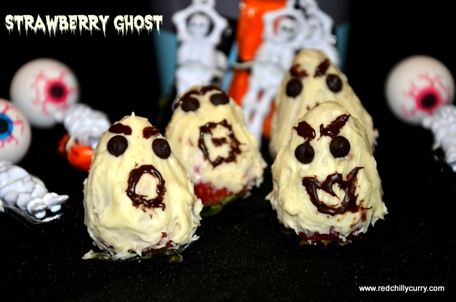 strawberry ghost,halloween recipe,easy halloween recipes,eggless halloween recipes,halloween party ideas,halloween spooky recipes,party recipes,halloween festival recipes,ghost recipes,strawberry ghost recipe