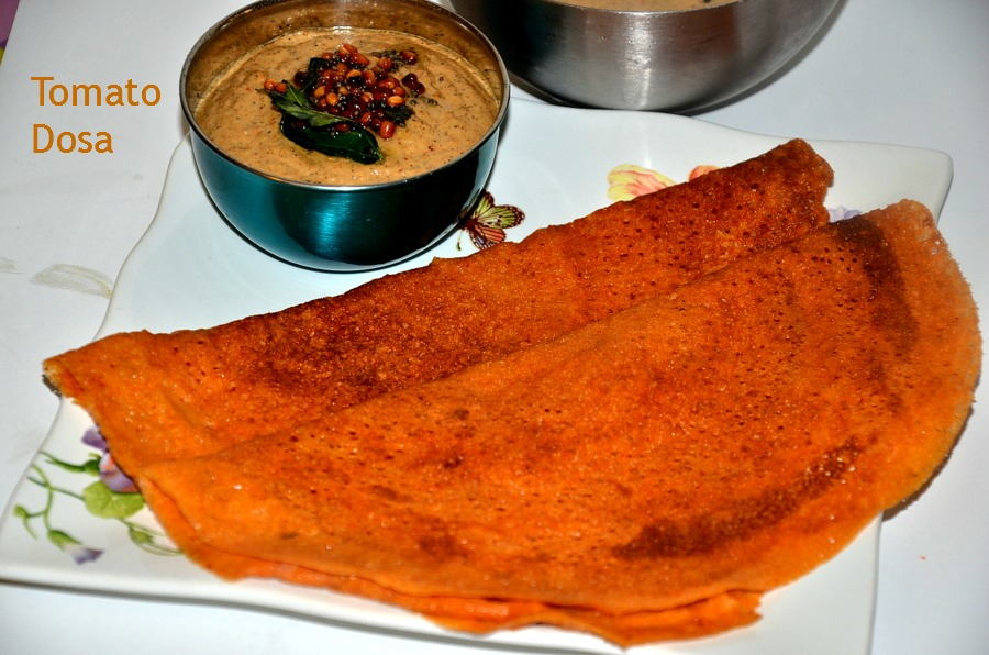 Spicy Tomato Dosa