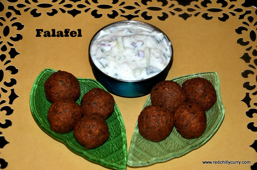 falafel recipe, appetizers, vegetarian appetizers, mediterranean recipes,hummus, yogurt cucumber raita, yogurt dressing,redchillycurry, party food, party mini appetizer, party dip, party recipes