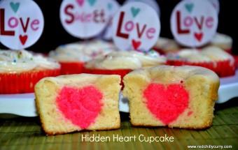 hidden heart cupcake