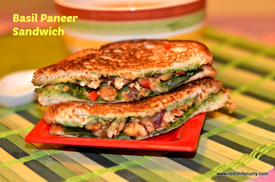 paneer sandwich,basil paneer sandwich,paneer recipes,how to make sandwich,sandwich recipes,snack recipes,paneer recipes
