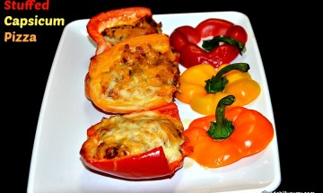 stuffed capsicum pizza