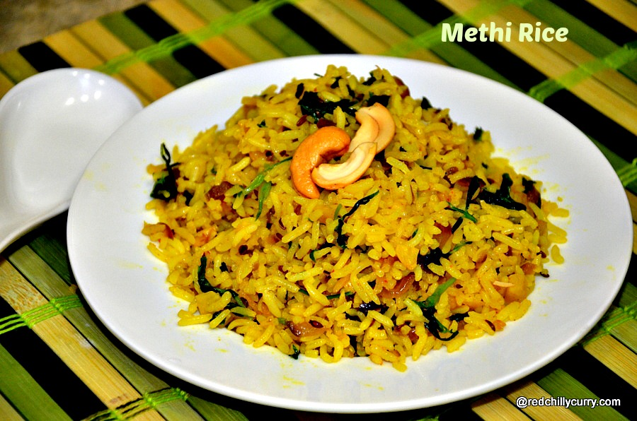 methi rice,meethi rice,fenugreek rice,methi pulav,rice variety,rice varieties,rice recipes,methi recipes,easy rice recipes,lunch box recipes,quick lunch box recipes,easy lunch box recipes,how to make methi rice,party rice,south indian rice variety