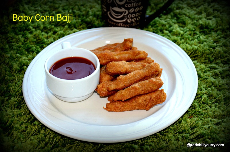 baby corn bajji,bajji varity,corn bajji,baby corn recipes,bajji recipes, south indian bajji recipe,corn indian recipes,corn fritters