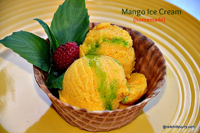 mango ice cream,homemade ice cream,eggless mango icecream,icecream ...