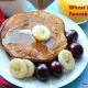 Eggless wheat banana pancake