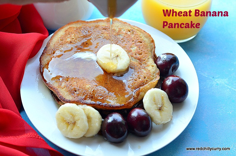 Eggless wheat banana pancake, how to make pancake, eggless pancake recipe,pancake recipe, banana pancake, wheat pancake, eggless pancake, breakfast recipes,kids recipes,indian kids recipes,indian recipes,quick recipes,evening tea recipes