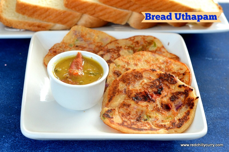 Bread Uthapambread Uttapam Recipehow To Make Dosauthapam Recipe