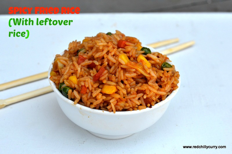 spicy fried rice,fried rice,rice variety,indi chinese recipes,how to ake fried rice,thai fried rice,kids recipes,lunch box recipes,indian vegetarian recipes