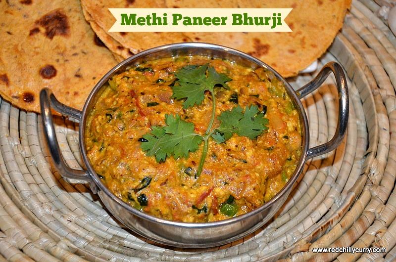 Methi paneer bhurji recipe methi paneer bhurji paneer bhurji paneer methi bhurji north indian recipes paneer forumfinder Gallery