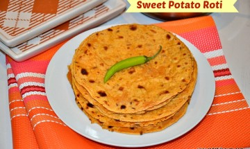 Sweet potato roti