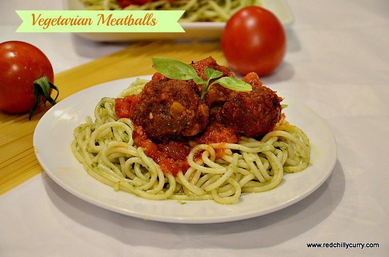 vegetarian meatballs recipe, 30 minute vegetarain meatballs, how to make spaghetti pasta, meatless meatballs, vegan meatballs, italian pasta recipe,pesto sauce spaghetti ,pasta recipe