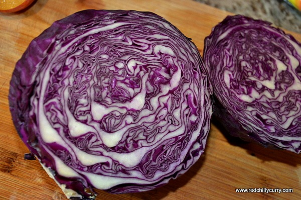 red cabbage poriyal